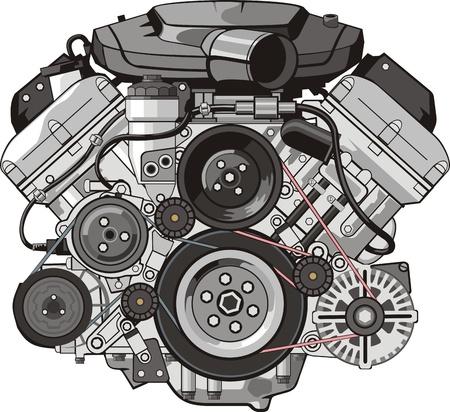 MOTOR van interne verbrandingsmotoren FRONTALE Stockfoto - 13765083