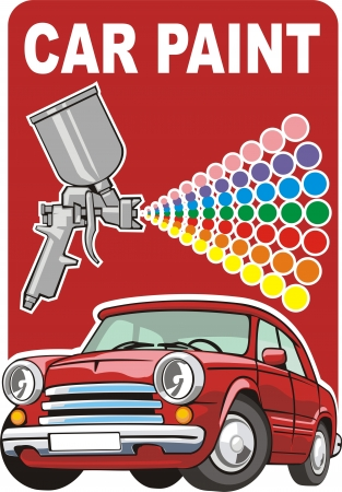 car fix: Sign of a car paint Illustration