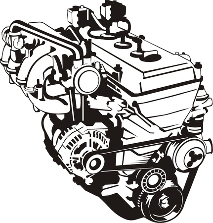 engine oil: Engine of internal combustion frontal