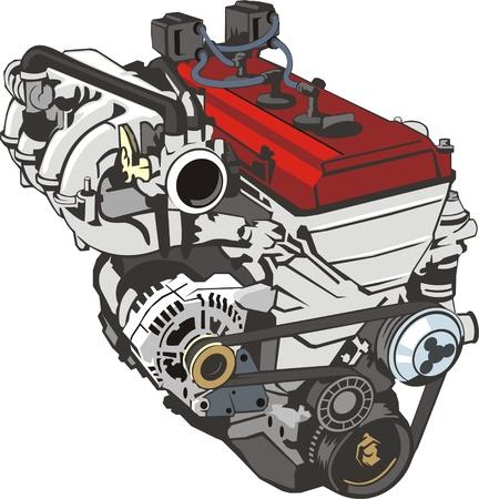 정면: Engine of internal combustion frontal