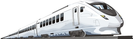 Passenger railway modern speed train Vector