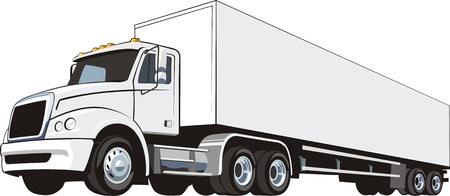 remolques: Conductores de camiones pesados ??para el transporte de carga internacional Vectores