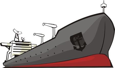 camión cisterna: la nave para el transporte de la carga miscelánea Vectores