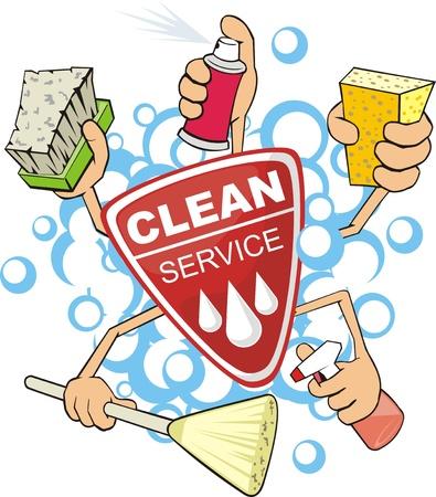 soapy: firme del servicio de la limpieza de la lavadora Vectores