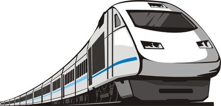 pociąg: kolej pociÄ…g pasażerski Ilustracja