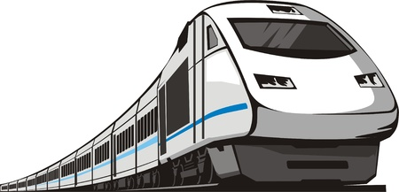 passenger railway speed train Vector