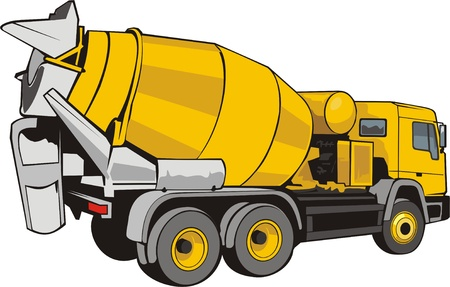 construct: gebouw mixer voor beton Stock Illustratie