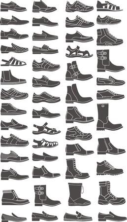 set van een man schoen silhouetten