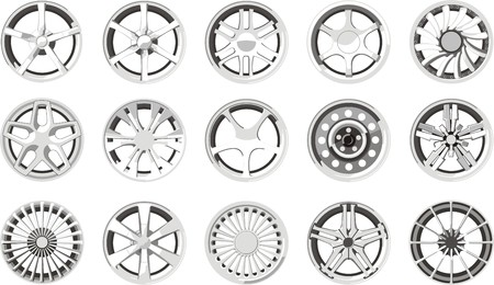 alloy wheel: set of a car alloy wheels