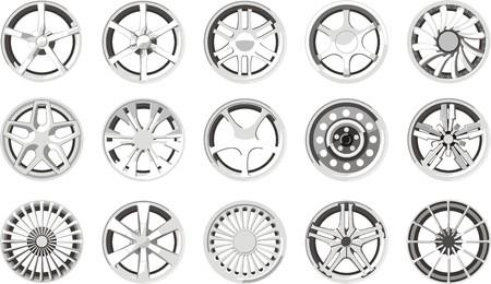 alloy: set of a car alloy wheels