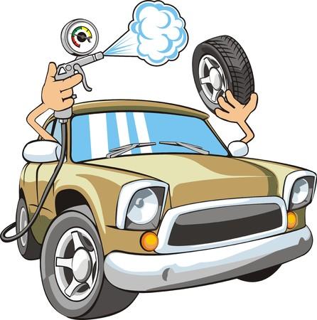 splint: signo de aire para ruedas de coche