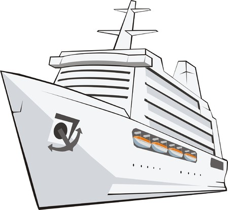 mile: big passenger ship frontal from the side