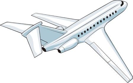 avia:  departing plane of the average sizes