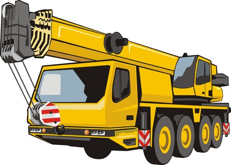 lifting tap with lifted by dart mobile heavy lifting crane Banco de Imagens - 31400606