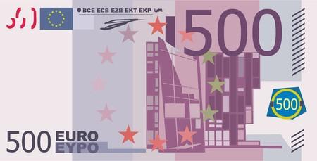 billets euro: evropean papier argent ? 500 Illustration