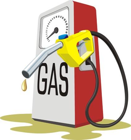 petrol: gas pump Illustration