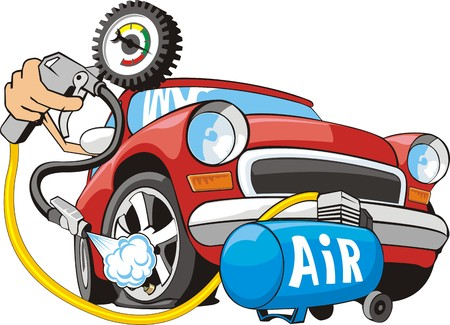 vulcanize: sign of air for car wheels Illustration