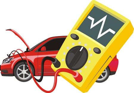 tool voor het auto-systeem te controleren op een auto achtergrond