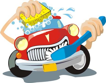 lavar: lavado de vehículos signo Vectores
