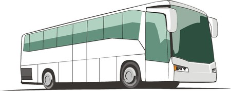 convoy: comfortable bus for transportation passenger by roads Illustration