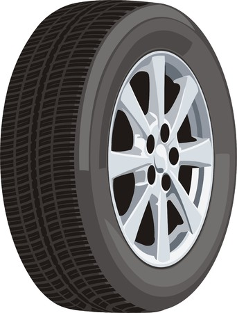 car wheel: rueda de coche