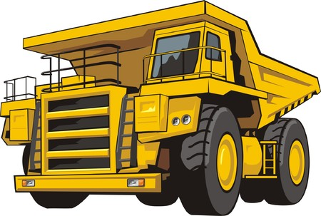 quarry: heavy quarry dump truck of transportation of the soil Illustration