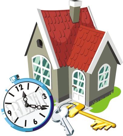 for rental: housing for rental fee Illustration