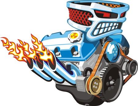 car engine: wery powerfull scarry car engine