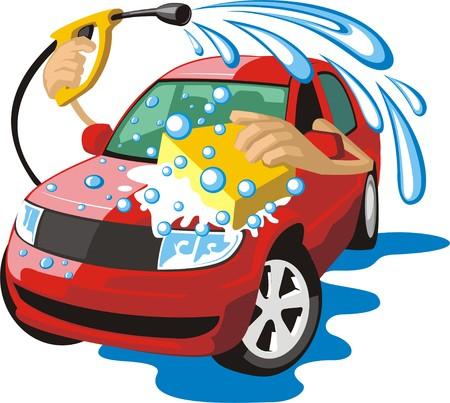 ondertekenen een auto lichaam wassen