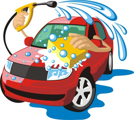 car clean: sign a car body washing