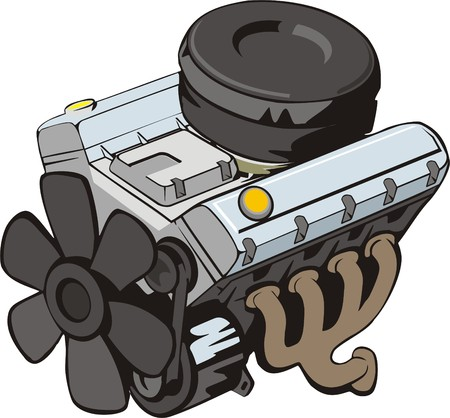 auto filter: ENGINE of INTERNAL COMBUSTION Illustration