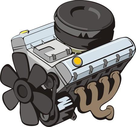 alternator: ENGINE of INTERNAL COMBUSTION Illustration