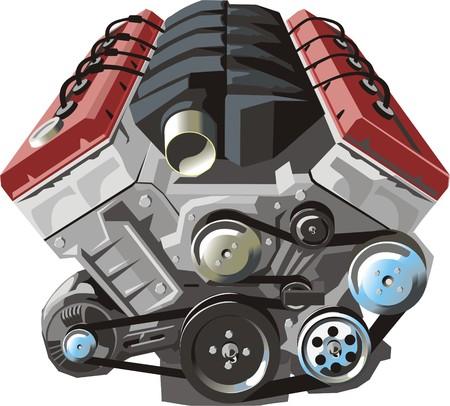 cilinder: MOTORI A COMBUSTIONE INTERNA del FRONTALE Vettoriali