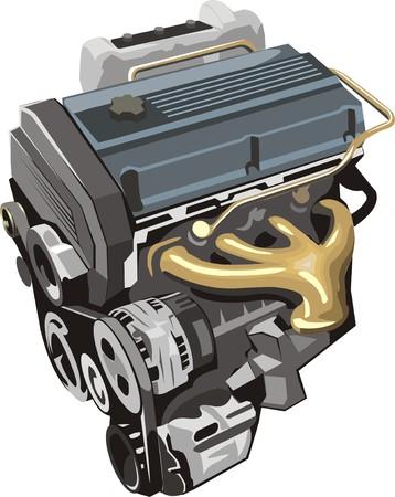 alternator: ENGINE of car Illustration