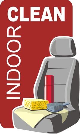 seat: car indoor clean