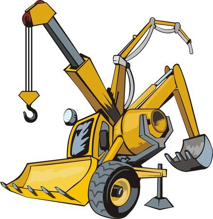 보편적 인: 범용 건설 기계 일러스트