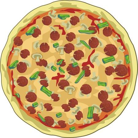 stuffing:  tasty appetizing pizza