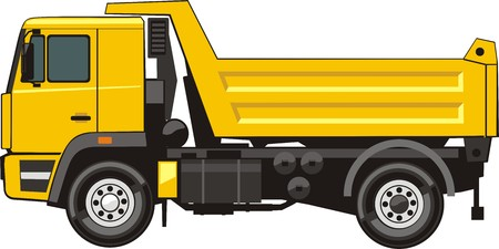 delivery truck: dump truck