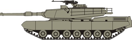 battle tank side Vector