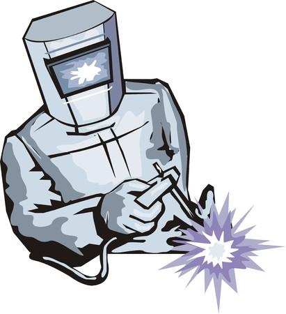 soldador: soldador para sujetar detalle por soldadura