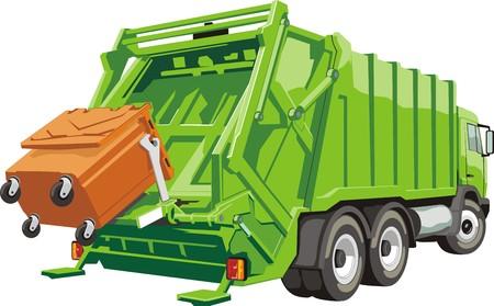Ciężarówka na montaż i transport śmieci