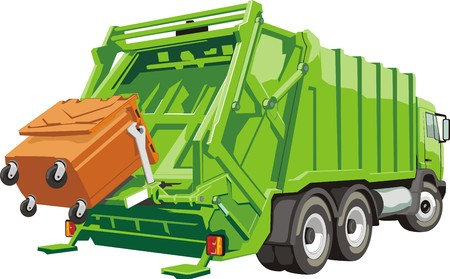 truck for assembling and transportation garbage