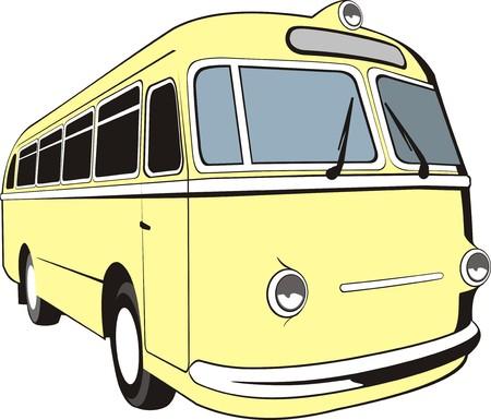 motor de carro: Vector viejo autobús Vectores