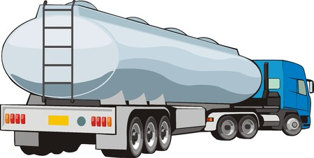 cistern: mobile cistern for construction liquid Illustration