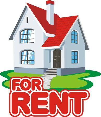 fee: housing for rental fee Illustration