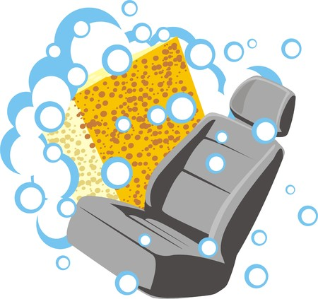 car interior wash and clean  イラスト・ベクター素材