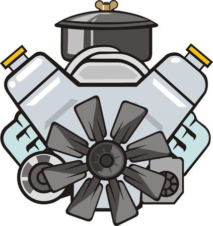 cilinder: car engine front