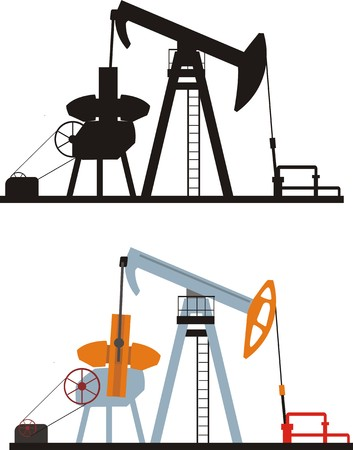 gusher: oil pump Illustration