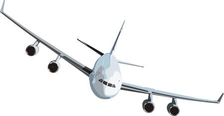 gemiddelde passagiersvliegtuig voor interne luchtweg