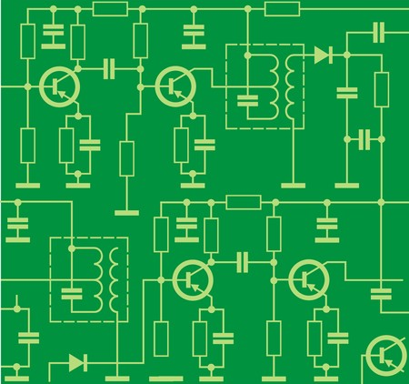 resistor: electronic circuit background Illustration